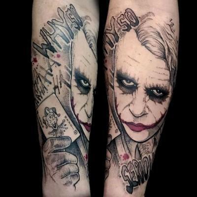 tatuaż z jokerem