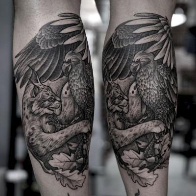 tatuaż z orłem